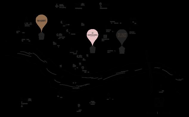 Mapa da localização do restaurante DIGBY