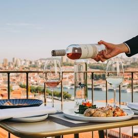 Almoço no Porot com vista para o rio Douro